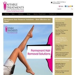 Permanent Hair Removal Solutions – How Effective Are They?