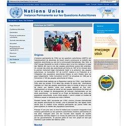 Sur l'Instance permanente de l'ONU sur les questions autochtones (UNPFII)