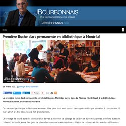 Première Ruche d'art permanente en bibliothèque à Montréal