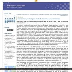 la serbie sous pression permanente de la communaute internationale