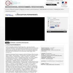 L'éducation permanente - Profession formateur