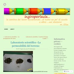 Laboratorio scientifico -La permeabilità del terreno