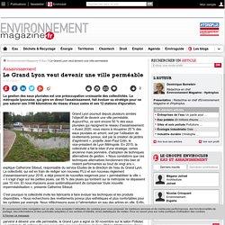 Le Grand Lyon veut devenir une ville perméable – Eau – Environnement-magazine.fr