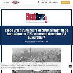 Est-ce vrai qu'une heure de SMIC permettait de faire 30km en 1973, et permet d'en faire 134 aujourd'hui?