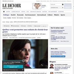 Québec veut permettre aux enfants de choisir leur genre