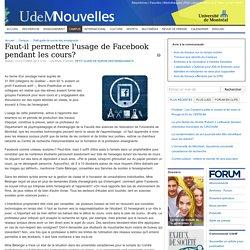 Faut-il permettre l'usage de Facebook pendant les cours?
