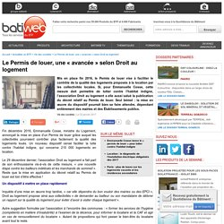 Le Permis de louer, une « avancée » selon Droit au logement - 02/01/17