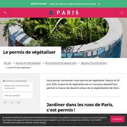 Un permis pour végétaliser Paris