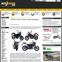 Permis A2 2016: Toutes les motos homologuées