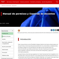 Manual de permisos y licencias de docentes