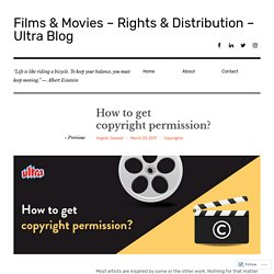 How to get copyright permission? – Films & Movies Rights - Ultra Blog