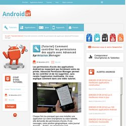 Tutoriel - Comment contrôler les permissions des applications  Android MT