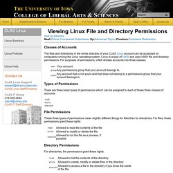 Linux Support, College of Liberal Arts & Sciences, The University of Iowa