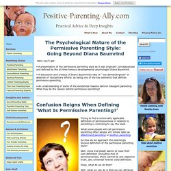 Permissive Parenting Style: Deep Psychological Insights