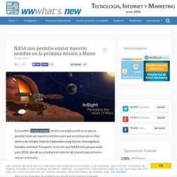 NASA nos permite enviar nuestro nombre en la próxima misión a Marte