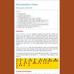 PermutationsAsTrees
