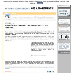 """Pernaut sur Bettencourt : un """"site Internet"""""""