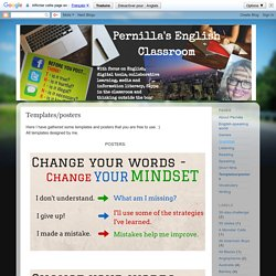 Pernilla's English Classroom: Templates and posters