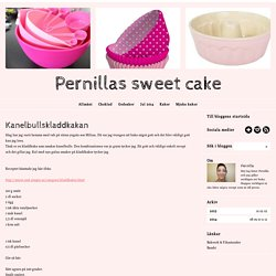 Pernillas sweet cake - Kanelbullskladdkakan