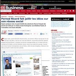 Pernod Ricard fait jaillir les idées sur son réseau social