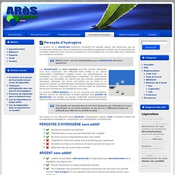 ARES SOLUTIONS - Peroxyde d'hydrogène
