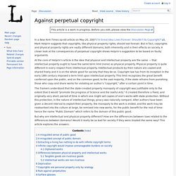 Against perpetual copyright - LessigWiki