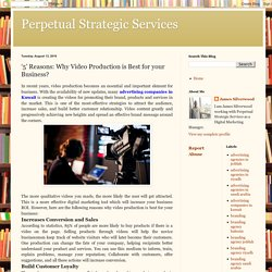 '5' Reasons: Why Video Production is Best for your Business?