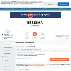 NESSIMA (PERPIGNAN) Chiffre d'affaires, résultat, bilans sur SOCIETE.COM - 834239154