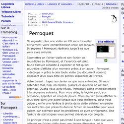 Perroquet - Langues et langages - Logiciels Libres