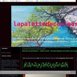 vidéo 1523 : Un perroquet ara bleu ou aranaura, aux feutres et crayons de couleur. - lapalettedecouleurs