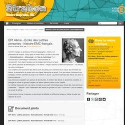 EPI 4ème - Ecrire des Lettres persanes - histoire-EMC-français