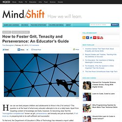 How to Foster Grit, Tenacity and Perseverance: An Educator's Guide