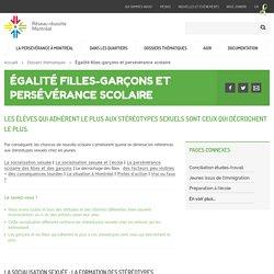 Égalité filles-garçons et persévérance scolaire - Réseau réussite Montréal