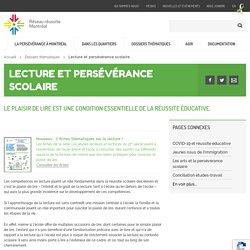 Lecture et persévérance scolaire - Réseau réussite Montréal