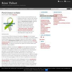 Persévérance scolaire : Rémi Thibert