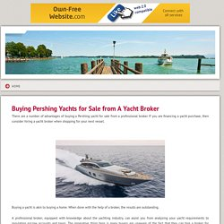 Pershing Yachts for Sale - Buying Pershing Yachts for Sale from A Yacht Broker
