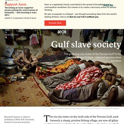 Are the Persian Gulf city-states slave societies?