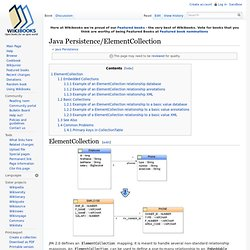 Java Persistence/ElementCollection