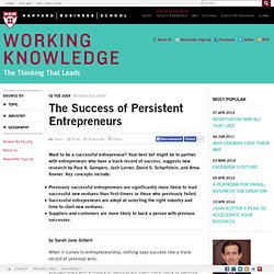 The Success of Persistent Entrepreneurs