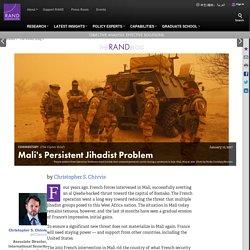 Mali's Persistent Jihadist Problem