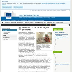 EUROPE 21/01/10 New data on persistent organic pollutants