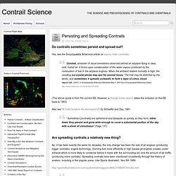 Persisting and Spreading Contrails