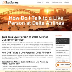 How Do I Talk to a Live Person at Delta Airlines?