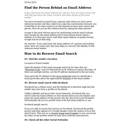 How to Find the Person behind an Email Address - Reverse Email Search