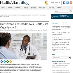 How Person-Centered Is Your Health Care Organization?