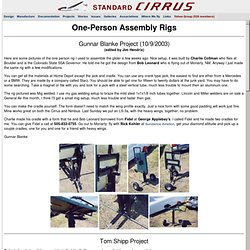 One-Person Rigs for Standard Cirrus Sailplanes