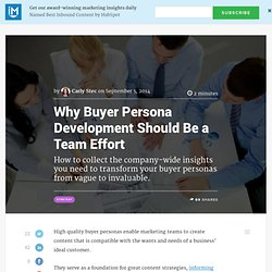 Why Buyer Persona Development Should Be a Team Effort
