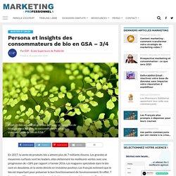 Persona et insights des consommateurs de bio en GSA - 3/4