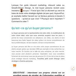 Buyer persona, à la base de l'inbound marketing dans l'industrie B2B