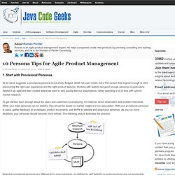 10 Persona Tips for Agile Product Management